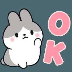 [LINEスタンプ] お返事に便利なパンダウサギさん