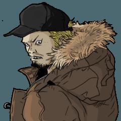 [LINEスタンプ] コワイ顔の人